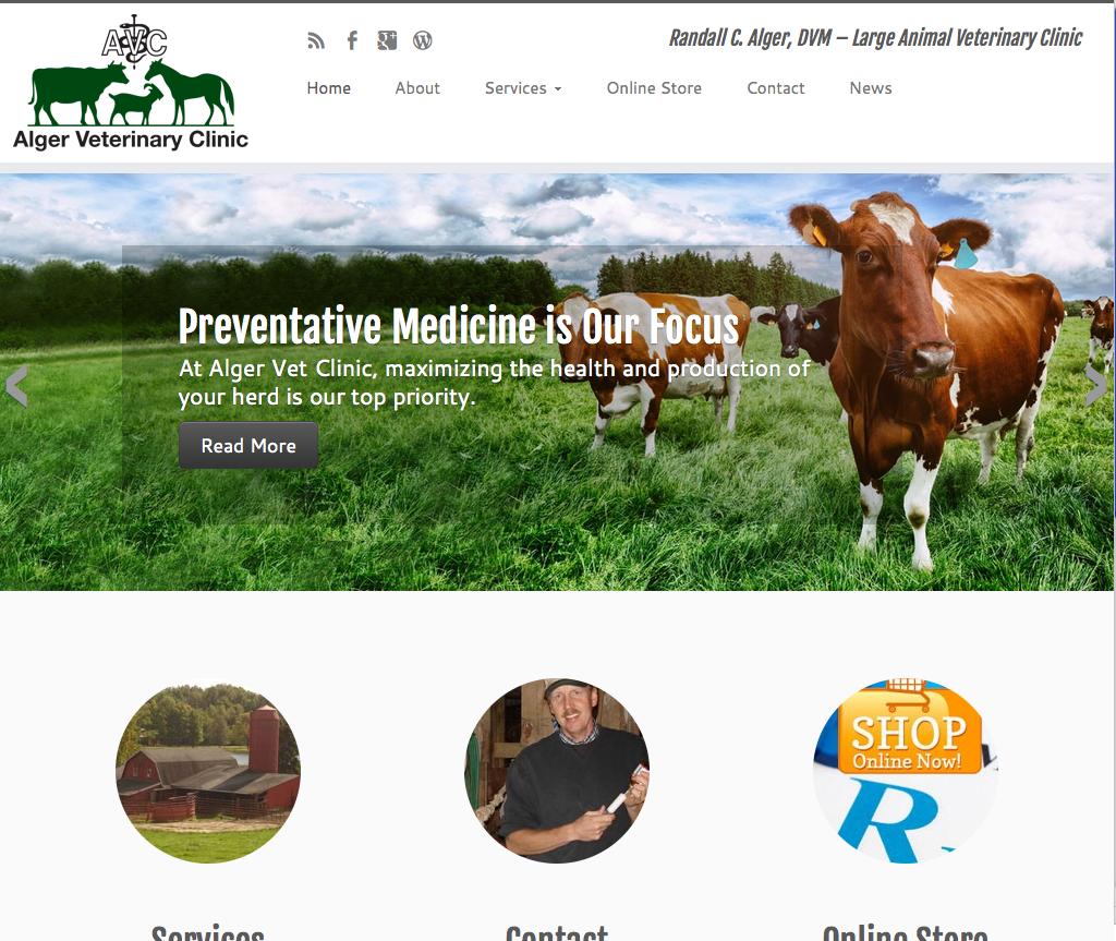 Charene Creative Presents New Website for Alger Veterinary Clinic