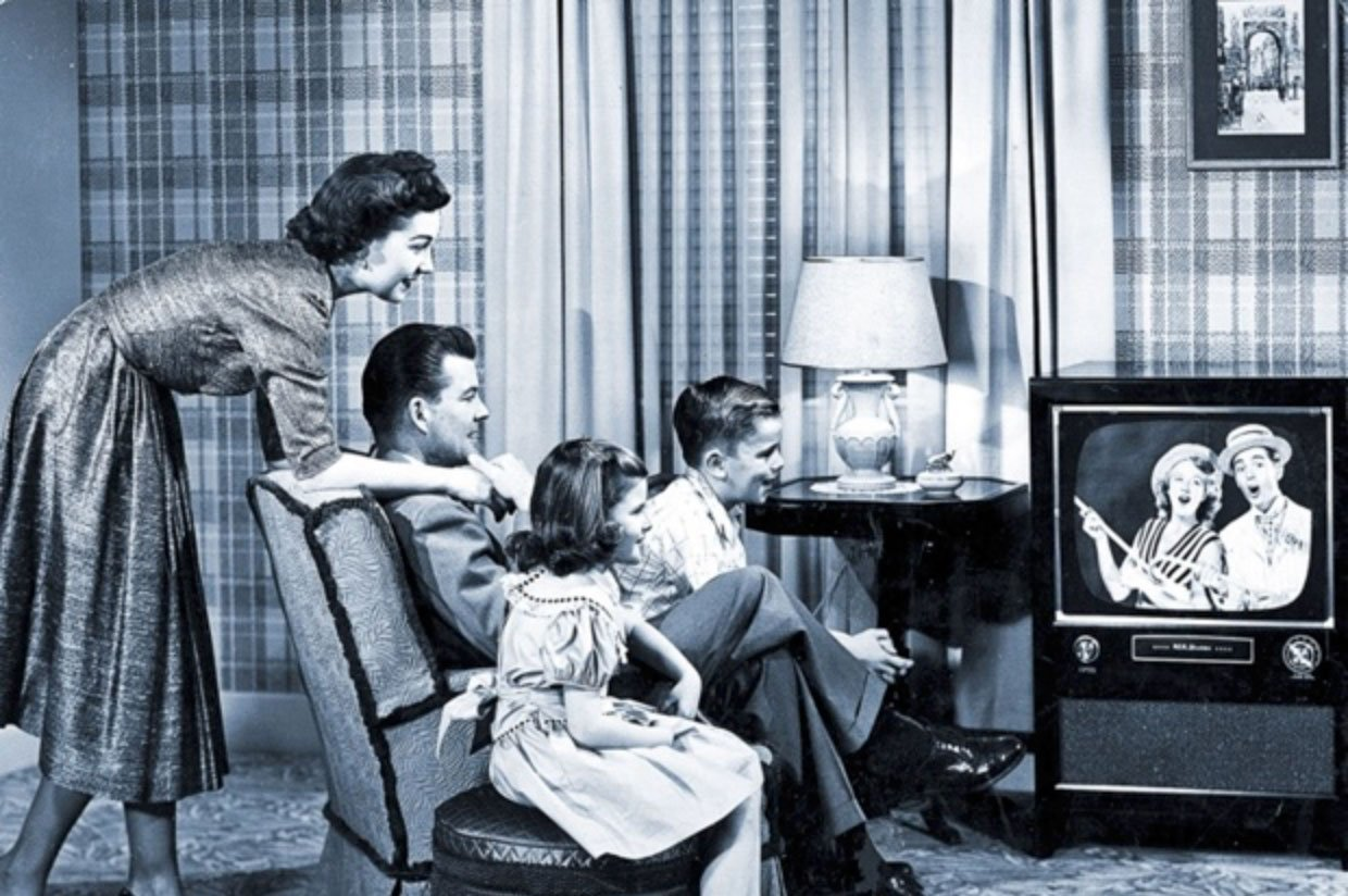 family watching tv 1950s. gallery family watching tv 1950s m
