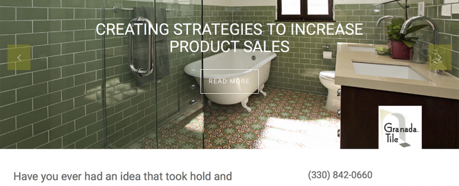 This thumbnail is the homepage website for PSW Surface Profiles which Charene Creative designed.