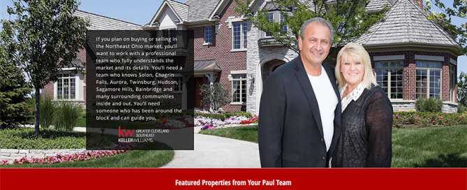 This thumbnail is the homepage website for Your Paul Team which Charene Creative designed.