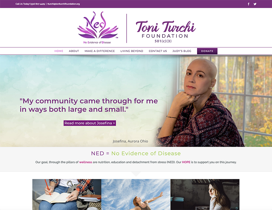 Charene Creative Presents New Website for The Toni Turchi Foundation