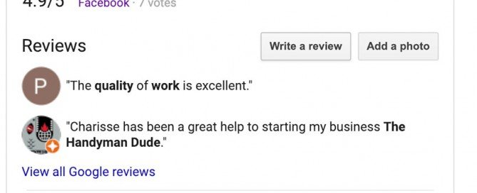 This thumbnail shows reviews for Charene Creative on Google. Please search for us to find other reviews.