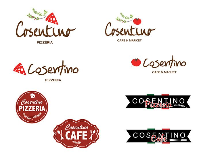 These thumbnail pictures are logo variations presented to MillCos Hospitality Group while developing there brand logo.
