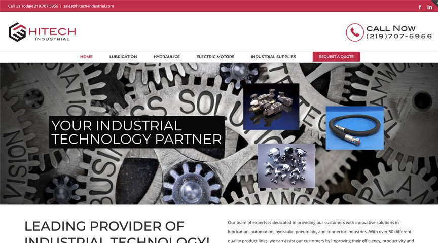 New Client Brand & Website Launch: HiTech Industrial