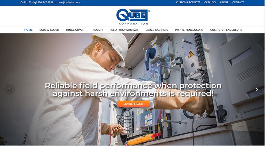 NEW CLIENT WEBSITE LAUNCH: QUBE CORPORATION