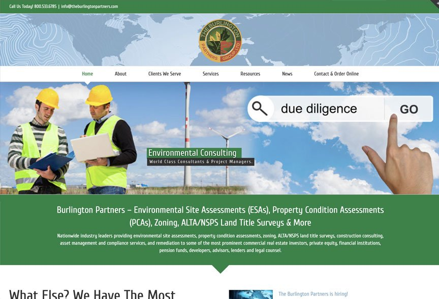 Charene Creative Presents New Website for Burlington Partners