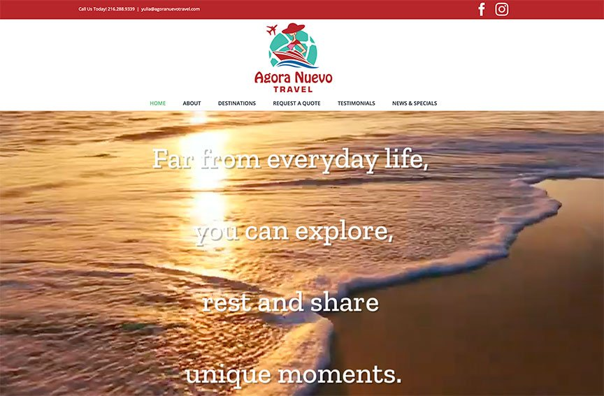 New Client Website Launch: Agora Nuevo Travel