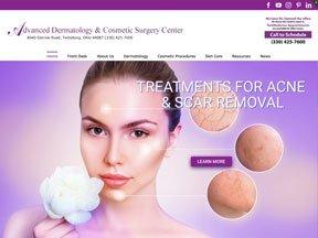 Advanced Dermatology website