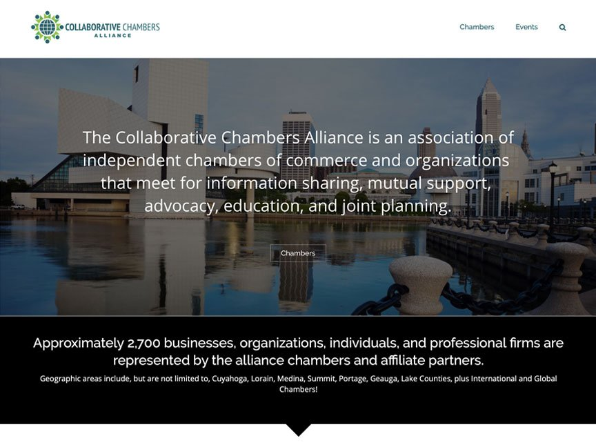 New Client Brand & Website Launch: Collaborative Chambers Alliance